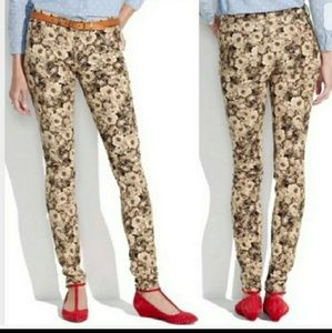 Madewell floral corduroy skinny jeans 28/6